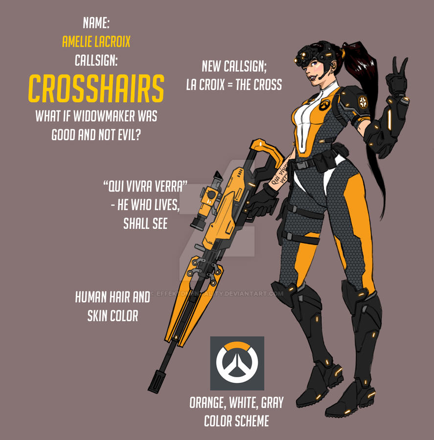 Overwatch Fan Skin: Crosshairs by effektdmentality