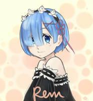 Rem // Re:Zero by tawahane