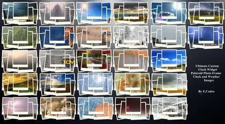 Polaroid Weather Images for UCCW by ECadro