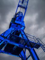 Illuminated crane by Inilein