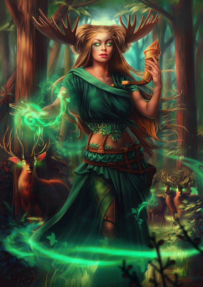 Druidess by Maradraws on DeviantArt