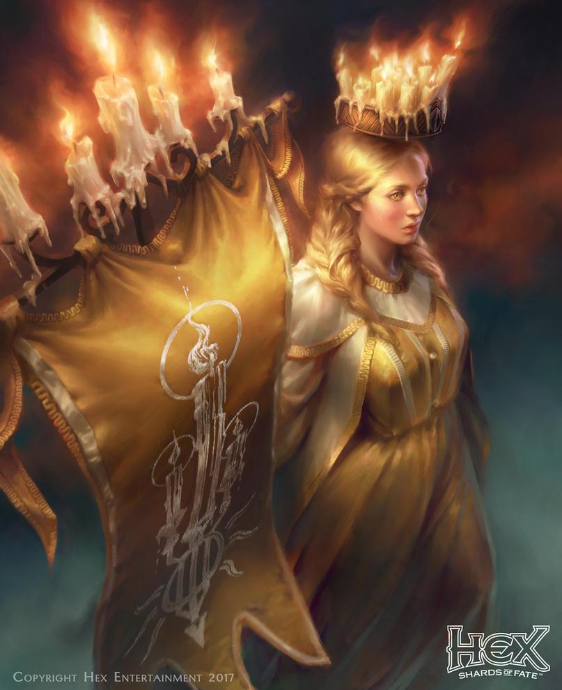 Cassia Goldenlight - HexTCG by Maradraws