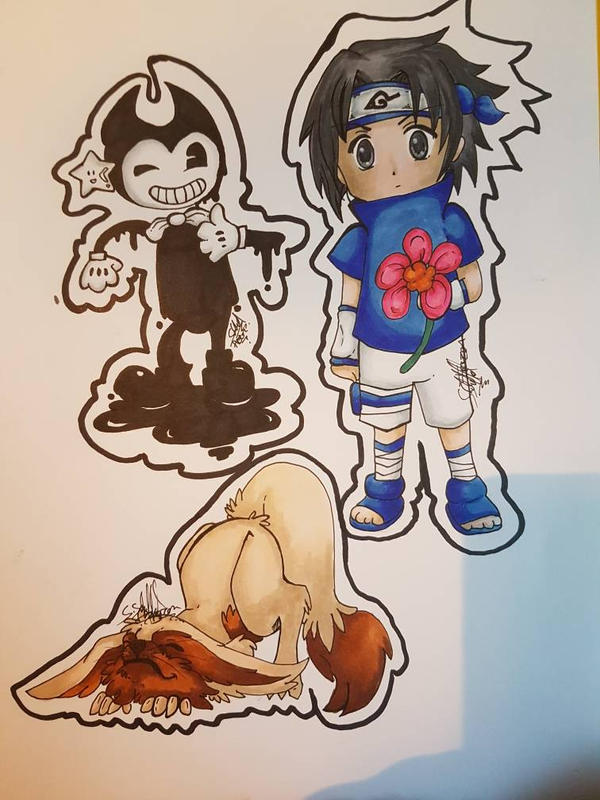 bendy fox sasuke  by SakiraKiss