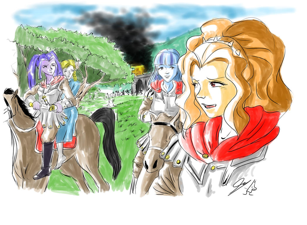 Dazzlings memories- One day  of fight in Capua by piojote
