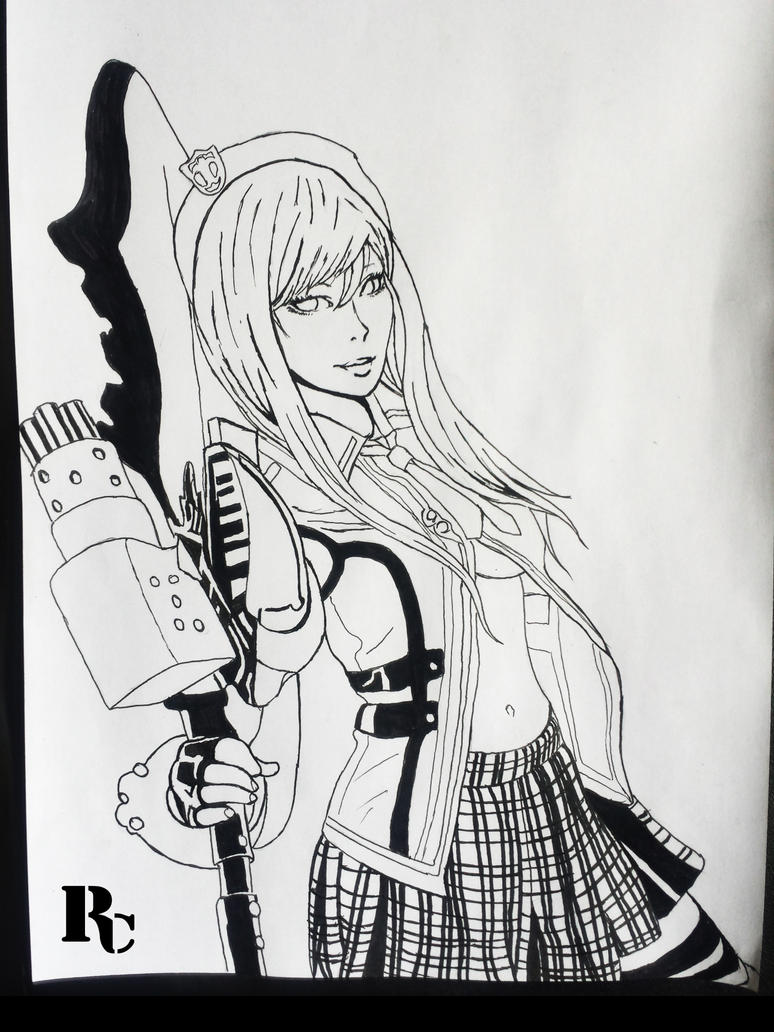 Fan Art God Eater 2: Rage Burst (Alisa) by raed0