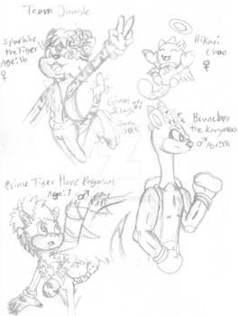 Sonic OCs - Team Jungle (Sketch)