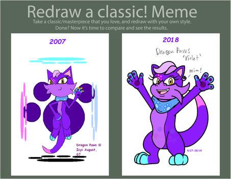 ReDraw Meme - Dragon Paws aka Violet