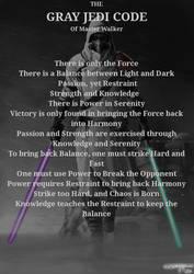 Gray Jedi Code According to Master Walker