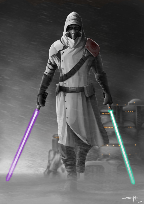Gray Jedi Code Background by Mindrop