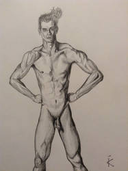 Male anatomy study by ChatoyantEyes
