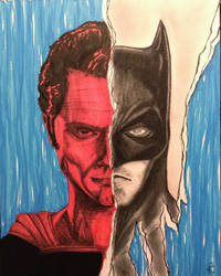 Batman v Superman by ChatoyantEyes