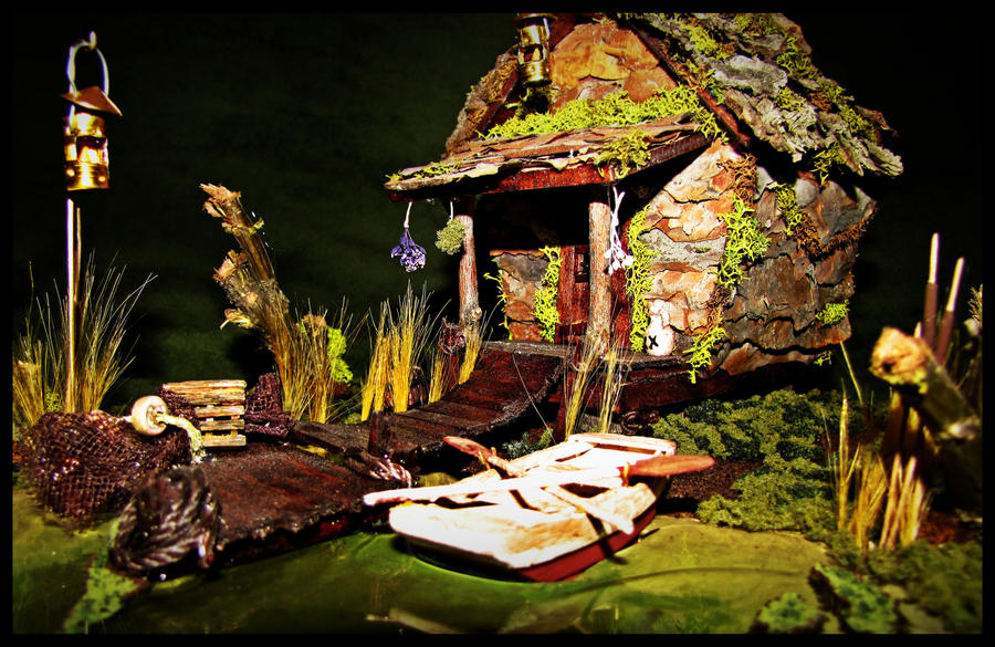'Bayou Backwoods' Faerie Cottage by SaraAnnDiPity