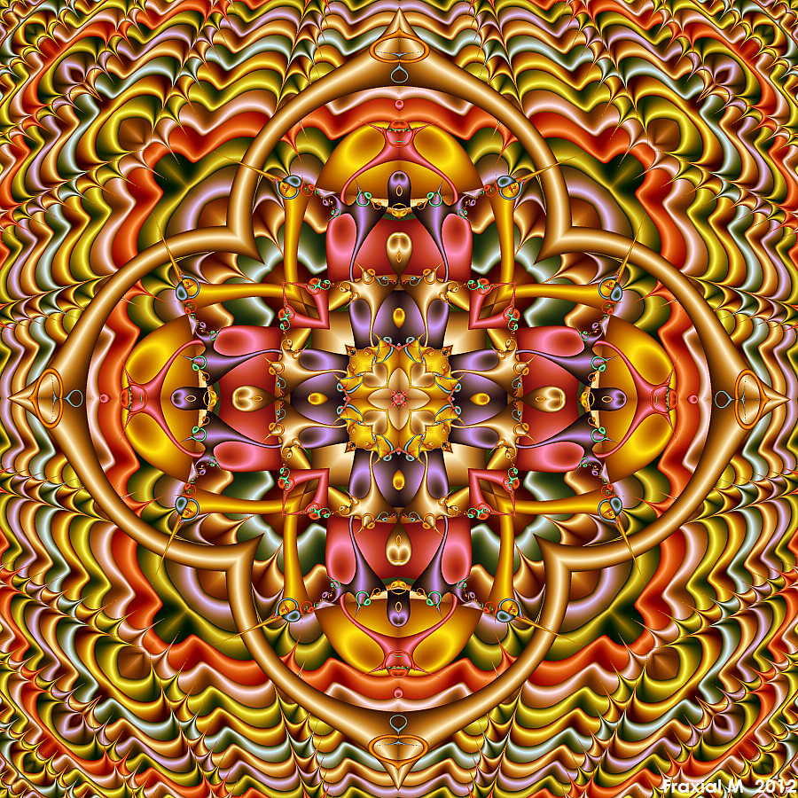 Pastel Rainbow Kaleidoscope by fraxialmadness3