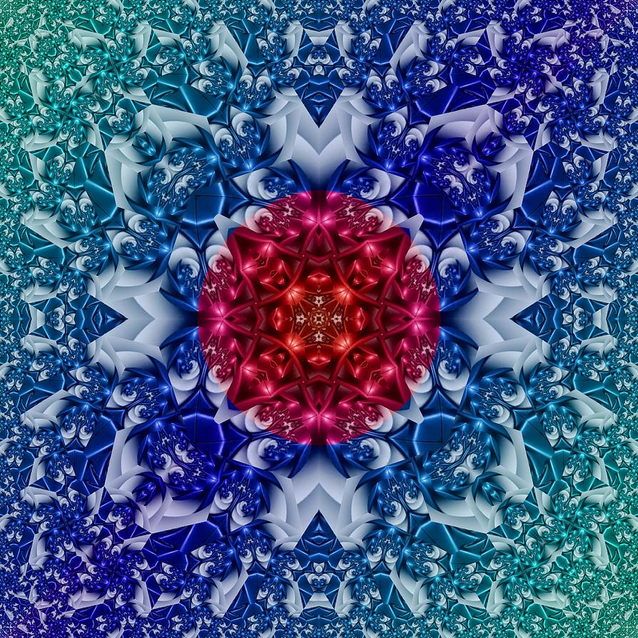 SquareLimit Kaleidoscope by fraxialmadness3