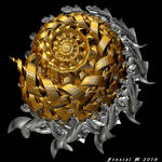 Gold And Silver Spiral