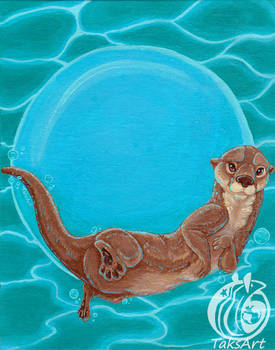Otter Bubble - Art on the Hoof Donation painting