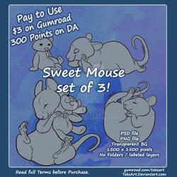 3 sweet mice - p2u Adoptable bases
