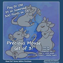 Precious Mouse (3 for 1) - P2U Adoptable Bases