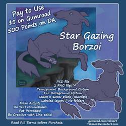 Borzoi Star Gaze - P2U Base/Optional Background
