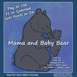 Mama And Baby Bear - P2U Base