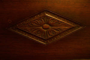 Diamond Carved Anitque Wood by paintresseye