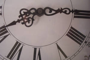Roman Numeral Clock Face by paintresseye