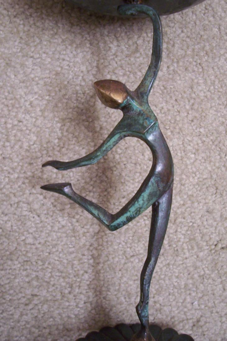 Art Deco style statue stock