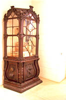 Wooden Antique China Cabinet by paintresseye