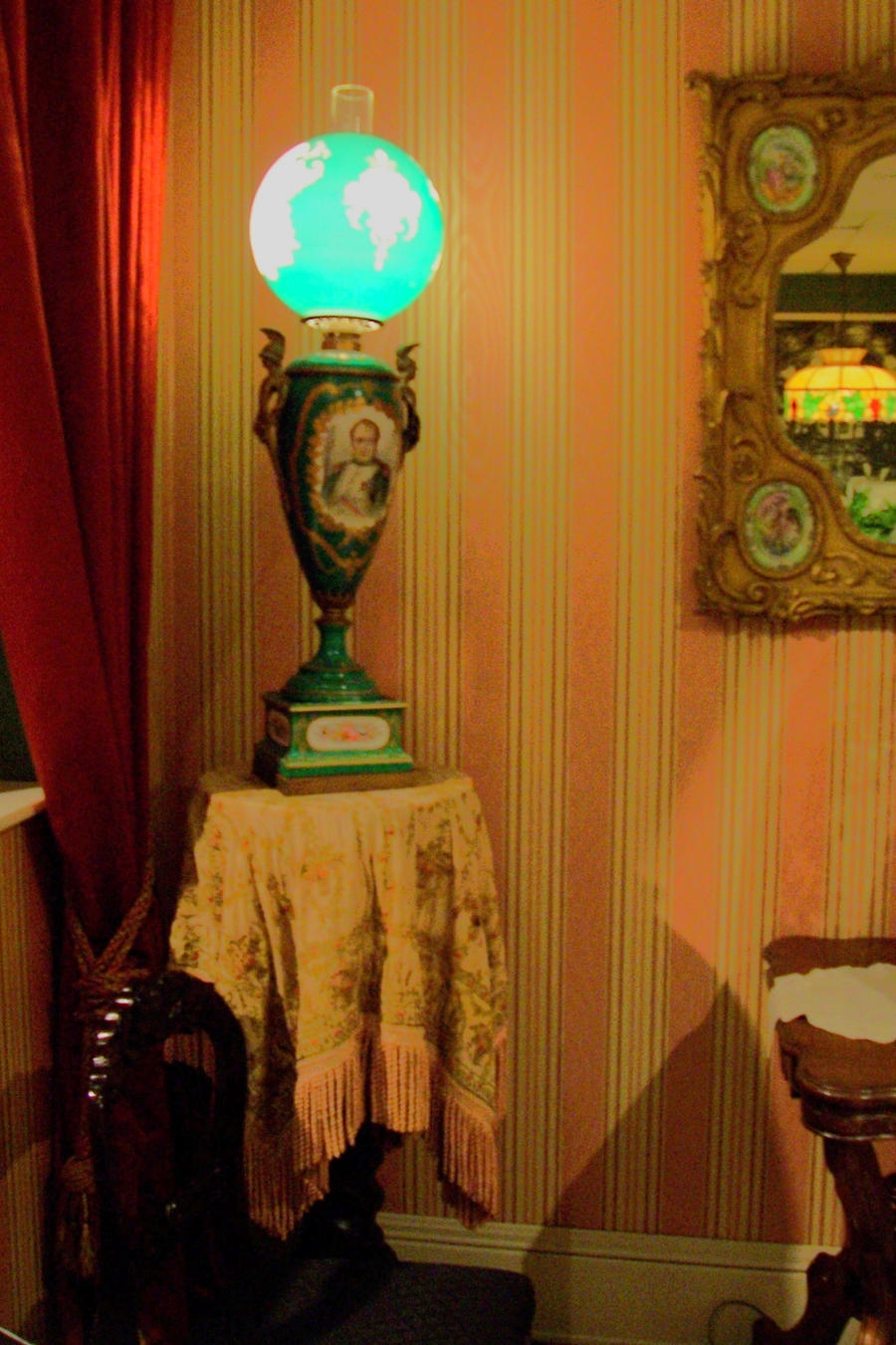 Victorian Lamp and Table by paintresseye