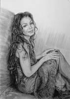 kresba Janet Jackson by ZdenoSuchy
