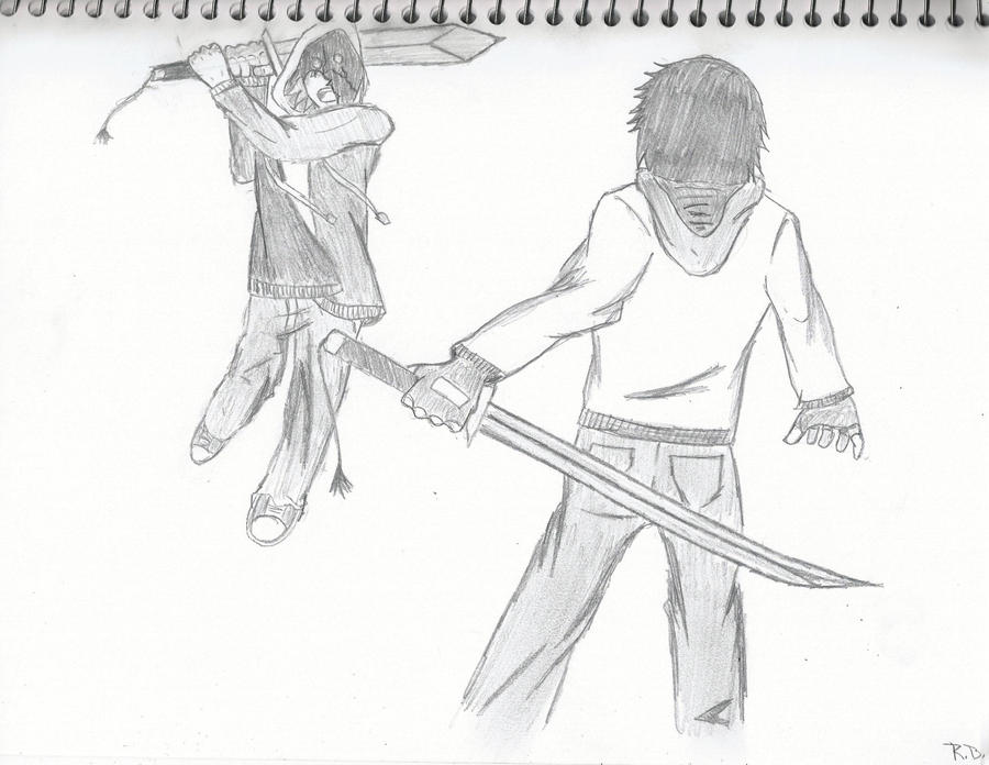 Anime/Manga action fight scene (practice) by ...