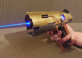 Custom Steampunk Laser Blaster by Anselmofanzero