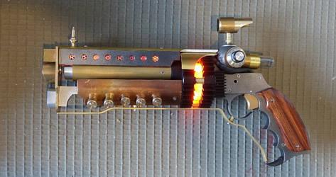Steampunk Laser ' Revolver ', lighter version