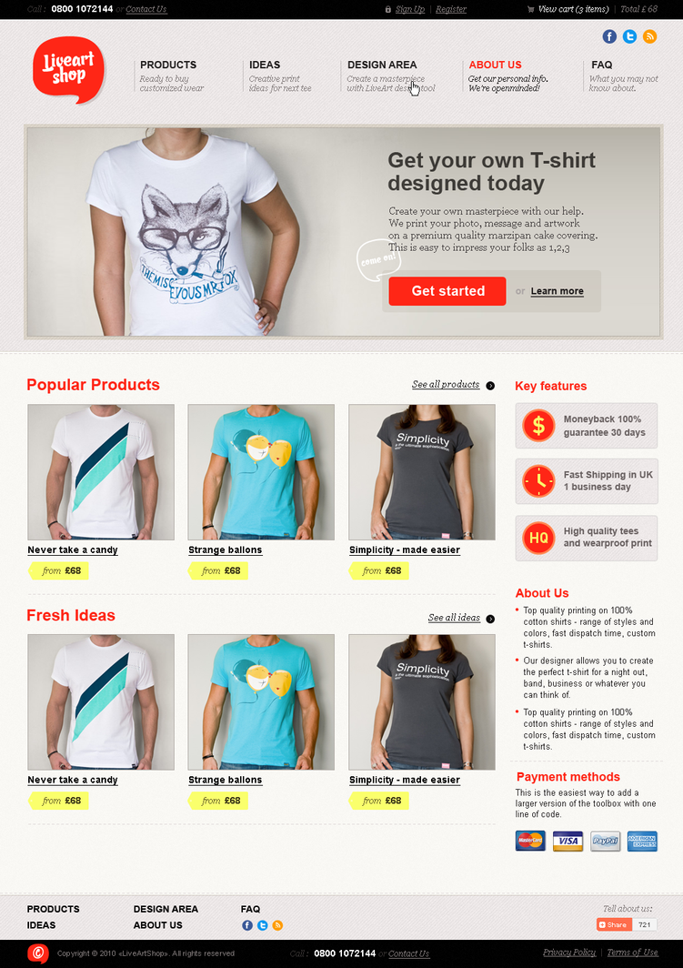 liveart shop by king pavian d34z6pu Creatively Inspired Web Interface Designs