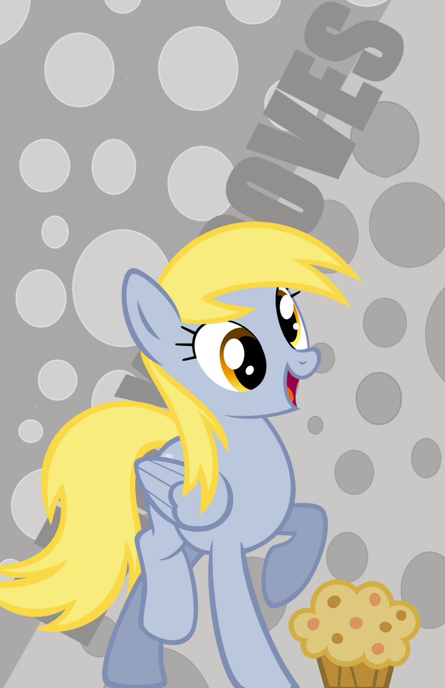 SonicRainBoomFTW Derpy Hooves Wallpaper MOBILE By