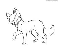 Canine Lineart - Paint by Konokashi