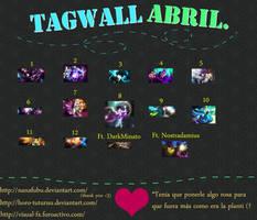 Tagwall Abril 2013 by Horo-tuturuu