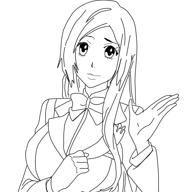 Orihime inoue lineart by shreelei on deviantart - Coloriage bleach ...