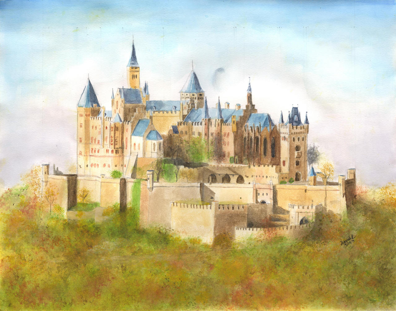 hohenzollern castle by dirtypaws13 - photo #1