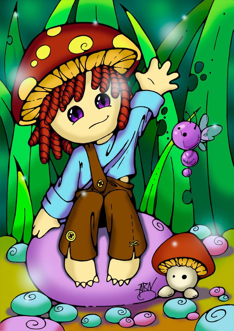 Little mushroom man by AlexRataniel