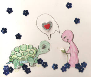 turtle birthday card by ClayBee