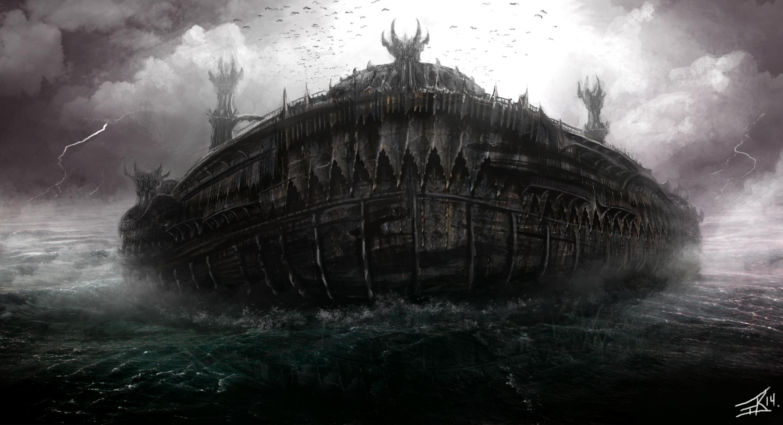 Dark Elf Black Ark concept