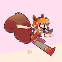 Squirrel Girl by EnciferART