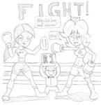 Wii Fit Trainer V.S Princess Daisy (Boxing)