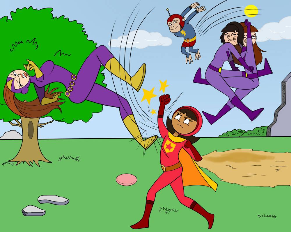 Word Girl Vs The Purple Vixen (Commission) by Alexander-LR