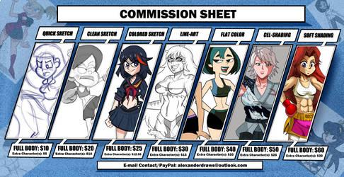 New Commission Sheet (2020)