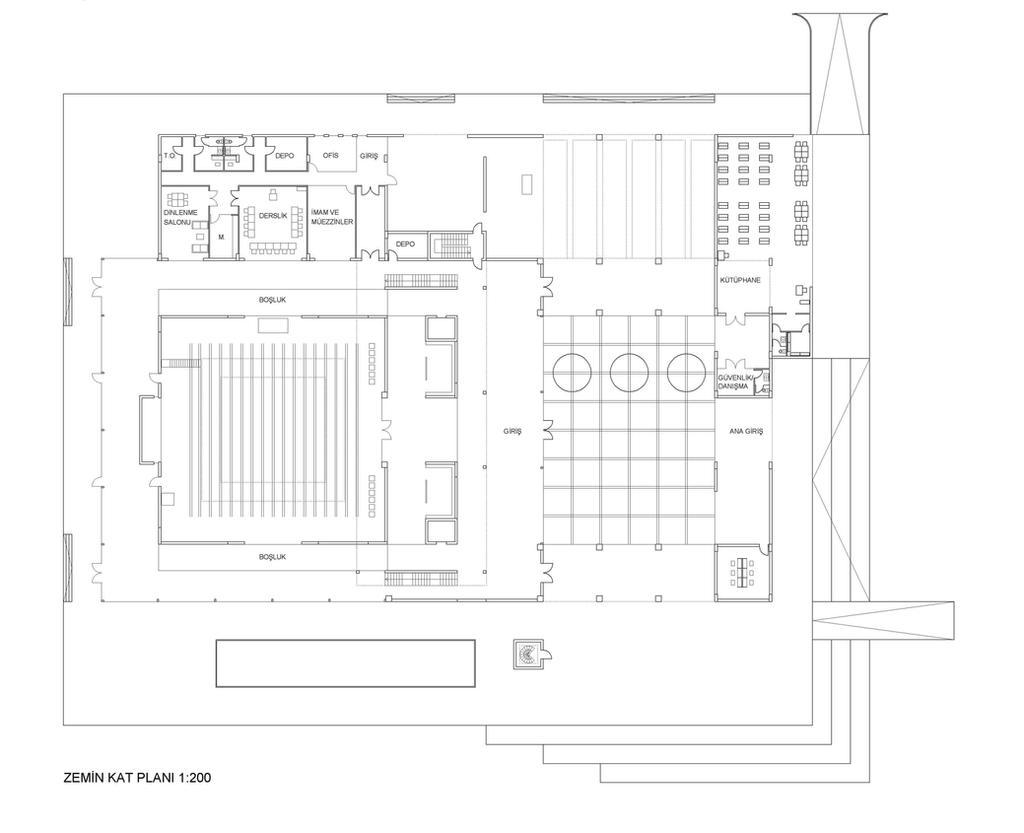 Plan Elevation Section Of Mosque : Mosque floor plans « unique house