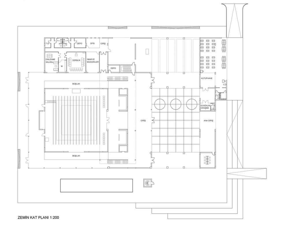Mosque Ground Floor Plan By Efsunaydin On Deviantart
