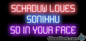 Sonadow neon sign by DragonHeartPrincess