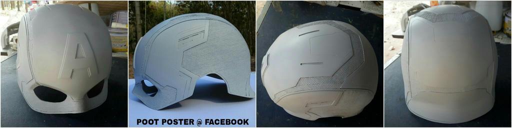Captain America helmet Civil war replica by PootPoster